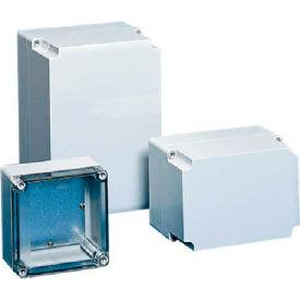 Hoffman Q13813ABECC QLINE™ J Box, Clear Screw Cover, Type 4X, 125x75x124mm, ABS