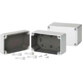 Hoffman Q1388PCEMC QLINE™ J Box, Screw Cover, Type 4X, EMC, 125x75x74mm, Polycarb