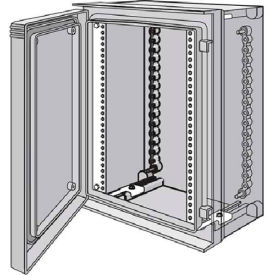 Hoffman UURA7560 Rack Angles,19 in.Thru-Hole(2), Fits 775mm ULTRX, Steel/zinc