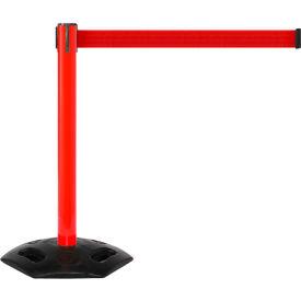 WeatherMaster Red Post Retracting Belt Barrier, 11 Ft. Red Belt