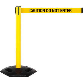 "WeatherMaster Xtra Yellow Post Belt Barrier, 3""W x 11 Ft. Yellow Caution Belt"