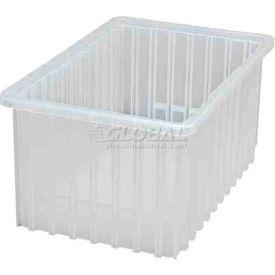 Quantum Clear-View Dividable Grid Container DG92080CL - 16-1/2 x 10-7/8 x 8 - Pkg Qty 8
