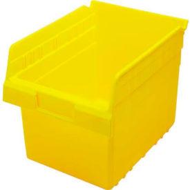 """Quantum Nesting Storage Bin QSB807 Plastic, 8-3/8""""W x 11-5/8""""D x 8""""H, Yellow - Pkg Qty 20"""