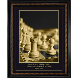 """Crystal Art Gallery - Trump Chess pcs - 20""""W x 24""""H, Straight Fit Framed"""