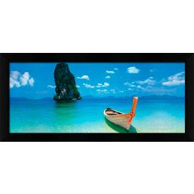 "Crystal Art Gallery - Phuket - 40""W x 16""H, Straight Fit Framed"