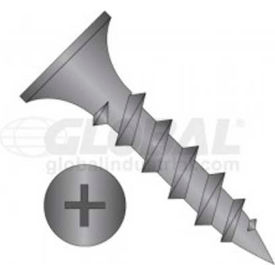 "#6 x 1"" Drywall Screw - Phillips Bugle Head - Steel - Black Phosphate Finish - UNC - Pkg Of 100"