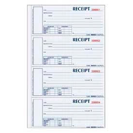 "Rediform® Money Receipt Book, 3-Part, Carbonless, 2-3/4"" x 6-7/8"", 200 Sets/Book"