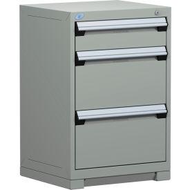 "Rousseau Metal Heavy Duty Modular Drawer Cabinet 3 Drawer Counter High 24""W - Light Gray"