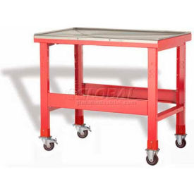 "Rousseau Metal Mobile Teardown Bench WSW7000_806, 48""W, Glossy Carmine Red"