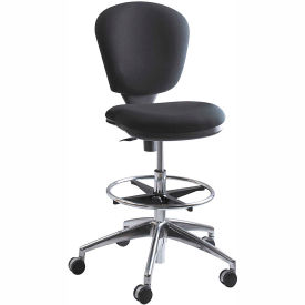 Safco® Metropolitan Extended Height Drafting Stool Chair - Fabric - Black