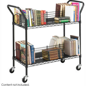 Safco® 5333 Double-Sided Wire Book Cart