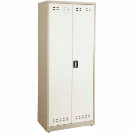"""Safco® Steel Storage Cabinet 30""""W x 18""""D x 72""""H, Tan"""