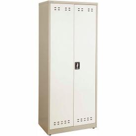 "Safco® Steel Storage Cabinet 30""W x 18""D x 72""H, Tan"