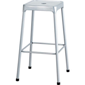"Safco® Steel Stool 29"" Bar Height - Silver"