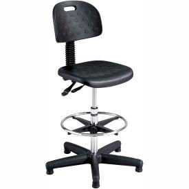 Tremendous Safco Soft Tough Deluxe Workbench Stool Polyurethane Black Evergreenethics Interior Chair Design Evergreenethicsorg