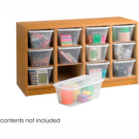 Safco Supply Organizer 9452MO With 12 Clear Plastic Bins