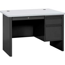 "Sandusky Heavy Duty Teachers Desk - Right Pedestal -  48""Wx30""D - Black/Grey Nebula - 700 Series"