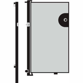 Screenflex 4'H Door - Mounted to End of Room Divider - Stone