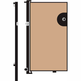 Screenflex 4'H Door - Mounted to End of Room Divider - Wheat