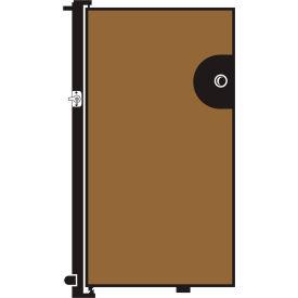 Screenflex 4'H Door - Mounted to End of Room Divider - Vinyl-Sandalwood