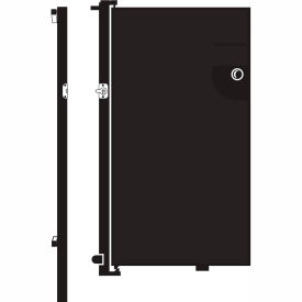 Screenflex 6'H Door - Mounted to End of Room Divider - Charcoal Black