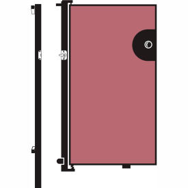 Screenflex 6'H Door - Mounted to End of Room Divider - Cranberry