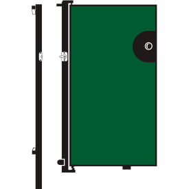 Screenflex 6'H Door - Mounted to End of Room Divider - Sea Green