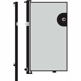 Screenflex 6'H Door - Mounted to End of Room Divider - Vinyl-Granite