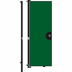 Screenflex 8'H Door - Mounted to End of Room Divider - Green