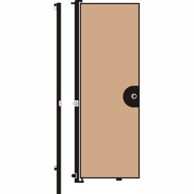 Screenflex 8'H Door - Mounted to End of Room Divider - Vinyl-Hazelnut