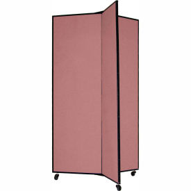 "3 Panel Display Tower, 5'9""H, Fabric - Rose"