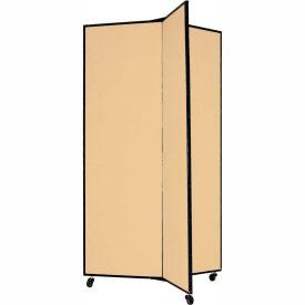 "3 Panel Display Tower, 5'9""H, Fabric - Sand"