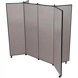 "6 Panel Display Tower, 5'9""H, Fabric - Stone"