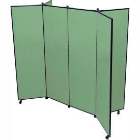 "6 Panel Display Tower, 5'9""H, Fabric - Mallard"