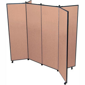 "6 Panel Display Tower, 5'9""H, Fabric - Walnut"