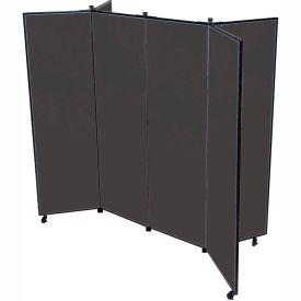 "6 Panel Display Tower, 5'9""H, Fabric - Black"