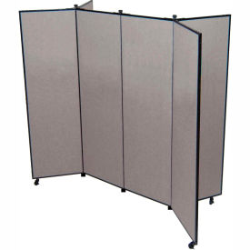 "6 Panel Display Tower, 5'9""H, Fabric - Grey Smoke"