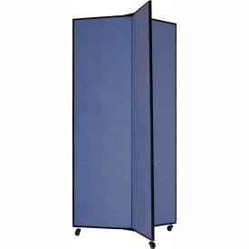 "3 Panel Display Tower, 6'5""H, Fabric - Lake"