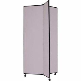 "3 Panel Display Tower, 6'5""H, Fabric - Stone"