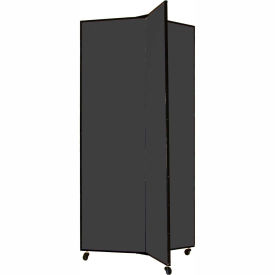 "3 Panel Display Tower, 6'5""H, Fabric - Black"