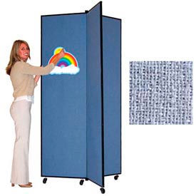"3 Panel Display Tower, 6'5""H, Fabric - Summer Blue"