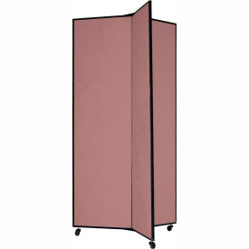 """3 Panel Display Tower, 6'5""""H, Fabric - Cranberry"""