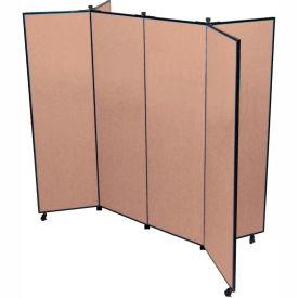 "6 Panel Display Tower, 6'5""H, Fabric - Walnut"