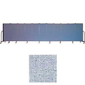 "Screenflex 11 Panel Portable Room Divider, 5'H x 20'5""L, Vinyl Color: Blue Tide"