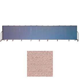 "Screenflex 13 Panel Portable Room Divider, 5'H x 24'1""L, Vinyl Color: Raspberry Mist"