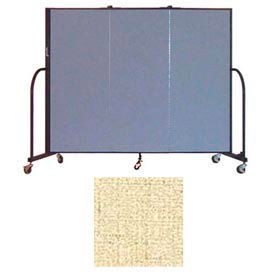 "Screenflex 3 Panel Portable Room Divider, 5'H x 5'9""L, Vinyl Color: Hazelnut"