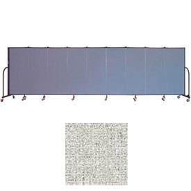 "Screenflex 9 Panel Portable Room Divider, 5'H x 16'9""L, Vinyl Color: Granite"