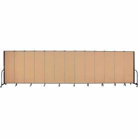 "Screenflex Portable Room Divider - 13 Panel - 6'H x 24'1""L -  Wheat"