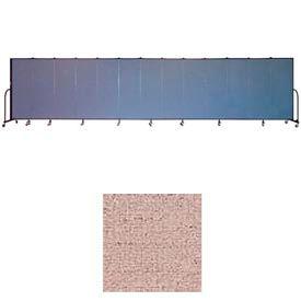 "Screenflex 13 Panel Portable Room Divider, 6'H x 24'1""L, Vinyl Color: Raspberry Mist"