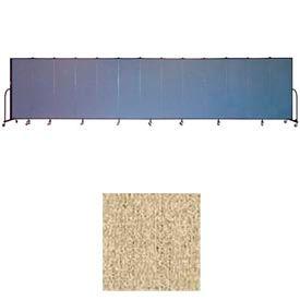 """Screenflex 13 Panel Portable Room Divider, 6'H x 24'1""""L, Vinyl Color: Sandalwood"""